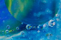 Abstract oil in water with blue and yellow geometric pattern. Il