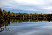 Northern Wisconsin lake in fall.